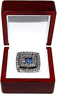 DUKE UNIVERSITY BLUE DEVILS (Coach Mike Krzyzewski) 2015 FINAL FOUR NATIONAL CHAMPIONS (5X Champs) Rare Collectible Replica College Basketball Silver Championship Ring with Cherrywood Display Box