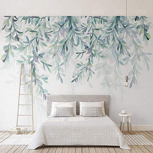 Nomte aangepaste fotobehang moderne groene bladeren aquarel Scandinavische stijl muurschildering behang woonkamer TV slaapkamer 3D Fresko wooncultuur 450x300cm