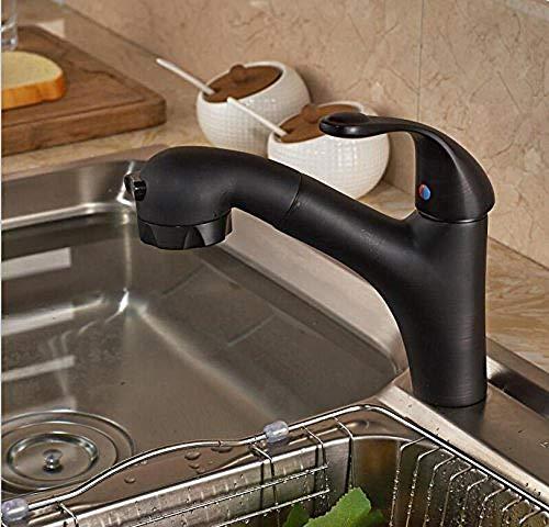 Real shot giratorio azul y blanco porcelana aceite y bronce grifo de cocina grifo de lavabo de cocina montado en resorte