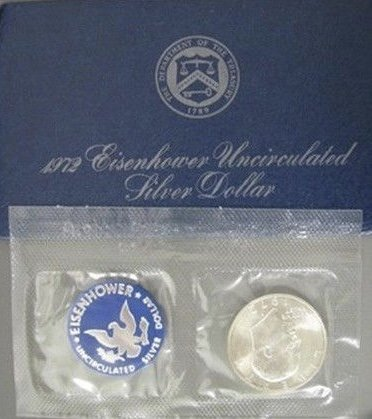 1972 2021 spring and summer new S Eisenhower IKE Dollar 40% Max 77% OFF Silver Comes min original US in