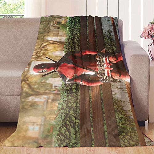 XavieraDoherty Superhero, Deadpool-Film-Kinderdecke, 152,4 x 198,1 cm, 300 g/m², super weich, warm und langlebig.