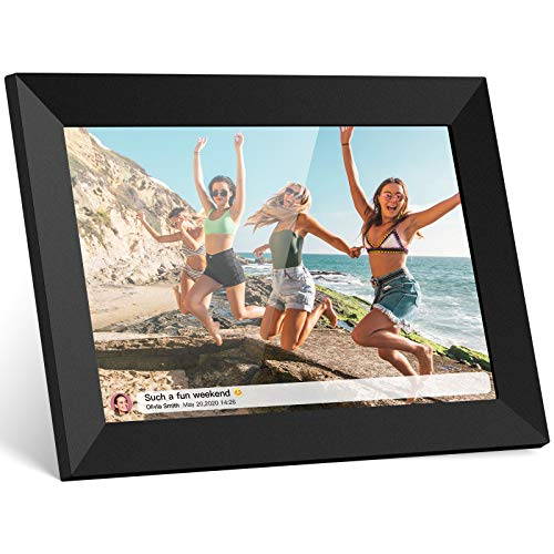 Skyrhyme Digital Picture Frame 10.1 Inch WiFi Photo Frame with IPS Touch Screen, 16GB Storage Space, Auto-Ratate, Share Photos and Video Instantly via Free APP Digital Frames Picture