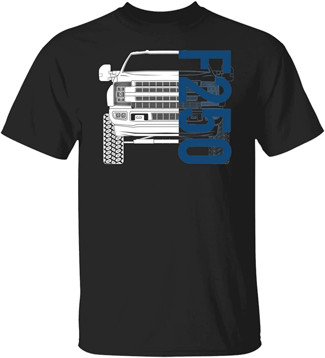 WheelSpinAddict Men's F-250 Fashion Super T-Shirt Duty Directly managed store Lifted