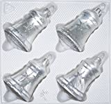 4 TLG. Glas-Glocken Set in Ice Weiss Silber Komet - Christbaumkugeln - Weihnachtsschmuck-Christbaumschmuck