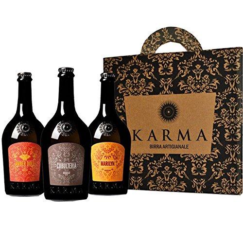 Cerveza Artesanal Karma Regalo Idea (tres botellas de 75 cl)