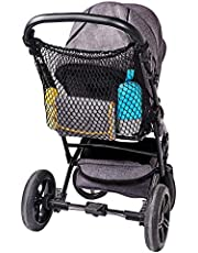 Diago red universal de compra XL para cochecitos de niños, sillas de paseo, cochecitos para deporte, jogging y gemelos / cierre encajable sencillo / red extra grande para cochecito - negra