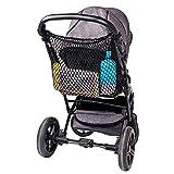 Diago Universal Einkaufsnetz XL für Kinderwagen, Buggy, Sportwagen, Jogger und Zwillingswagen/ einfacher Klickverschluss/ extra großes Kinderwagennetz - Schwarz