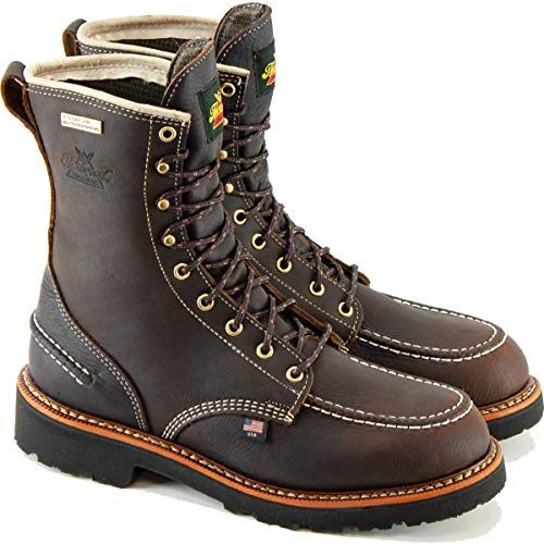Thorogood Men's 814-4141 1957 Series Flyaway USA 8' Waterproof Hunting Boot, Briar Pitstop - 9.5 M