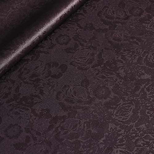 MUYUNXI Polipiel Cuero Artificial De Cuero para Tapizar Sofá Polipiel Silla Manualidades Cojines 138 cm de Ancho Vendido por Metro(Color:Morado Negro)