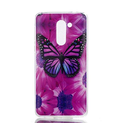 Coque Huawei Honor 6X, Anlike Téléphone Coque Étui Case pour Huawei Honor 6X (5,5 Zoll) - Papillon