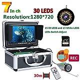 CWHALE Fischen-Kamera mit HD 1280 * 720 Bildschirm 15st Weiß LEDs + 15st Infrarot-Lampe 1080P 30M...