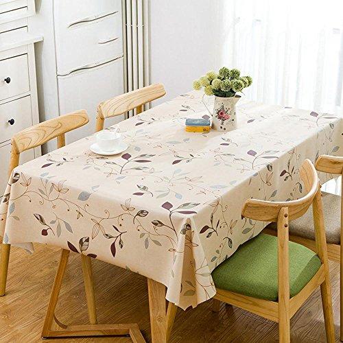 Longless PVC nappes PVC imperméable nappes imprimées maison tissu de table nappes 1.37 * 2.8m