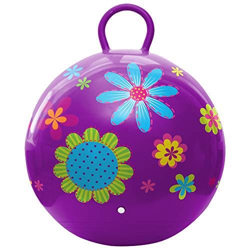 Hedstrom Hopper Ball, Bouncing Ball, Flowers, 18 Inch