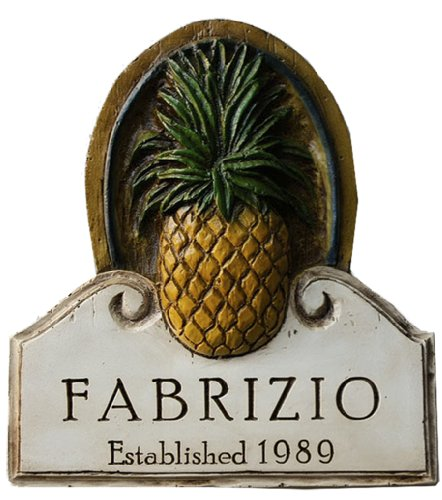 Piazza Pisano Pineapple Decor Personalized Wall Sign