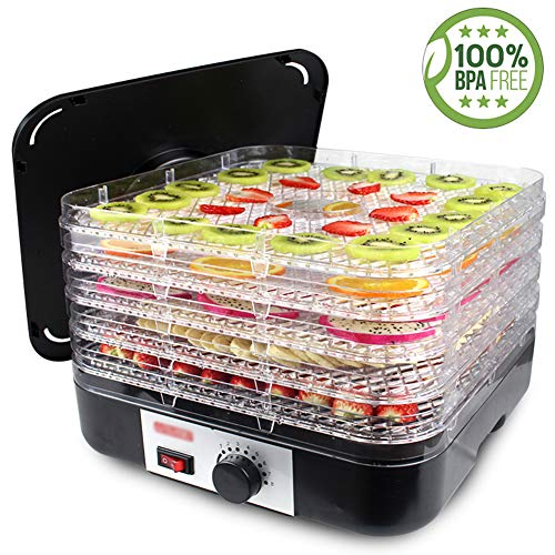 Review Of Food Dehydrator, Household Dried Fruit Machine 5-Layer Food Grade Tray Manual Timing Indep...