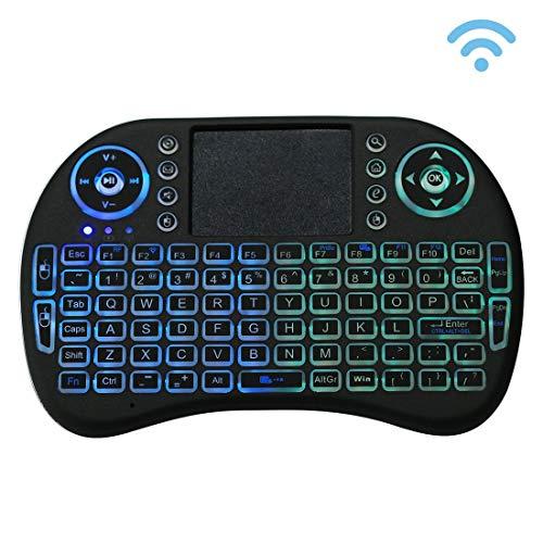 2.4GHz Mini teclado inalámbrico teclado QWERTY mini