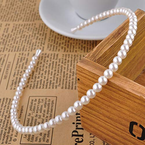 DongDongDong New Hot Korean Sample Design Imitation Pearl Hair Band Girls Hair Accessories Women Headband Wedding Party Bridal Hair Hoop