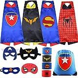 Will I Superhero Cape Suit and Wristband Costume Halloween Cosplay Dress up Christmas boy Girl Birthday Gift