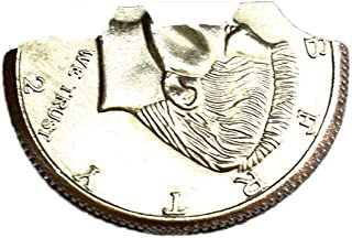 Jufang New Magic Bites Coin Bite Out Dollar Folding Bite Coin Half Dollar Close up Coin Magic Tricks