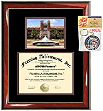 Florida State University Diploma Frame FSU School Picture Graduation Degree Campus Certificate Bachelor Master Doctorate PHD Plaque Framing Graduate Gift Case