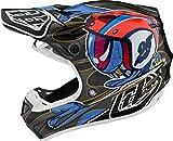 Troy Lee Designs 106156005 - Casco de moto Se4 Carbon Eyeball de carbono, tecnología Mips y 20 tomas de aire