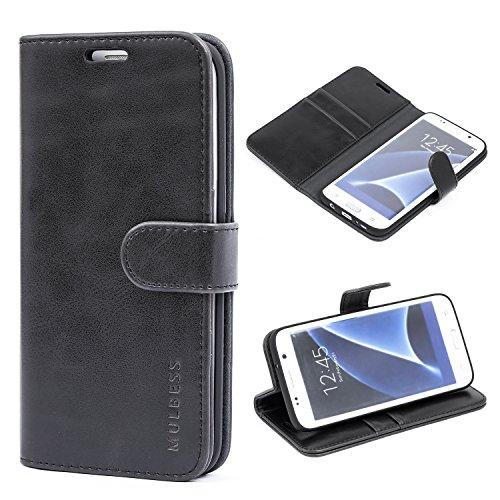 Mulbess Cover per Samsung Galaxy S7 Edge, Custodia Pelle con Magnetica per Samsung Galaxy S7 Edge [Vinatge Case], Nero