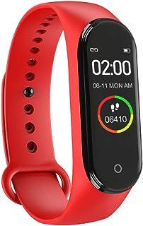 Lutun - Pulsera Inteligente M4 con Monitor de frecuencia cardíaca de 24 Horas, Monitor de sueño, Paso de calorías, IP68 Impermeable para Deportes, Mujeres y Hombres, Compatible con Android e iPhone
