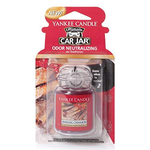 Yankee Candle 1220909E Car Freshener, Car Jar Ultimate, Sparkling Cinnamon