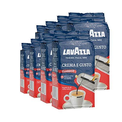 Lavazza Kaffee Crema e Gusto, gemahlener Bohnenkaffee (8 x 250g)