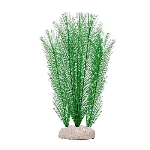 DAYOLY Künstliche Seegras Wasserpflanzen Plastikfedergras Pflanzen Aquarium Dekorationen Lebendige Pflanzenlandschaft für Aquarium Ornament (Weiß)