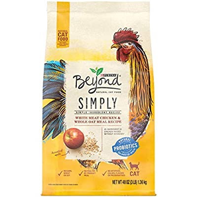 Purina Beyond Natural Limited Ingredient Dry Cat Food, Simply White Meat Chicken & Whole Oat Meal Recipe - 3 lb. Bag