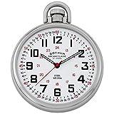 Gotham Men's Stainless Steel Mechanical Hand Wind Railroad Style Pocket Watch # GWC14106SX