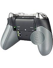 eXtremeRate Agarre de Goma para Xbox One Elite Asa Izquierda Derecha Empuñadura Antideslizante Grip Tacto Suave Mango de reemplazo Kit para Mando de Xbox One Elite Modelo 1698(Gris)