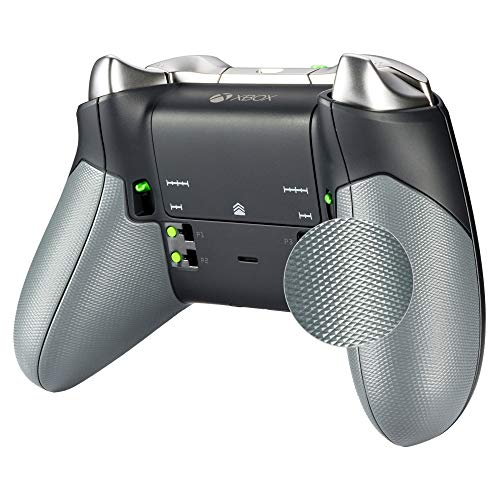 eXtremeRate Gehäuse Case Hülle Grip Cover für Xbox One Elite Controller,Grip Griff Ersatzteile Schale für Xbox One Elite Controller mit einem Hebel-Tool(Modell 1698)