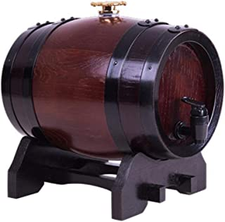 Tonneau de vin, Distributeur de fûts de chêne, Tonneau à vin en bois de chêne de 3L d'époque en bois pour porte-vin à bièr...