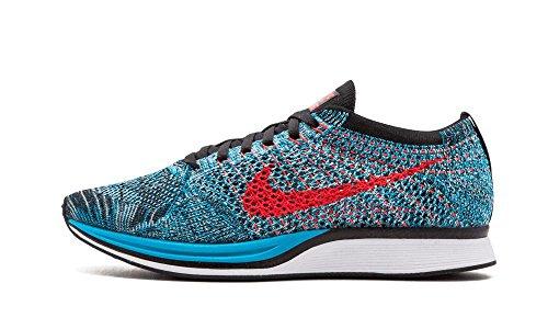 Nike Flyknit Racer Men's/Big Kid's Shoes Neon Turquoise/Bright Crimson/Glacier Ice 526628-404 (11 D(M) US)