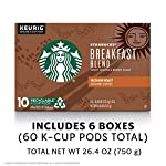 Starbucks Medium Roast K-Cup Coffee Pods — Caramel for Keurig Brewers — 6 boxes (60 pods total) 12 FLAVOR AND ROAST: A lighter, gentler take on the Starbucks roast, Starbucks Veranda Blend is flavorful without being overly bold PACKAGING CHANGE: We are currently updating our packaging look. You may receive either package for a limited time FOR KEURIG BREWERS: Starbucks K-Cup pods are designed for use with the Keurig Single Cup Brewing System