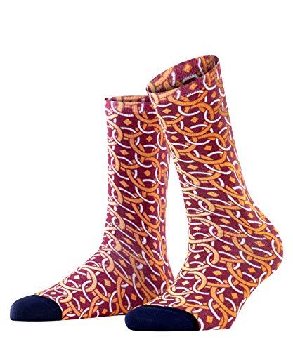 Burlington Damen Paisley Print Socken, rot (merlot 8005), 36-41