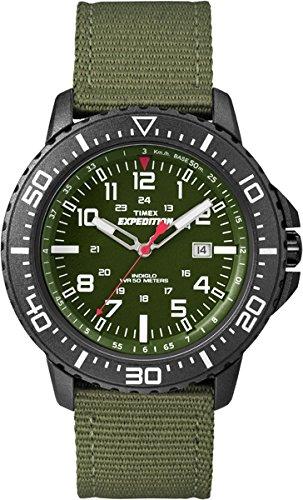Timex T49944D7 - Reloj de Cuarzo para Hombres, Correa de Nylon, Color Verde