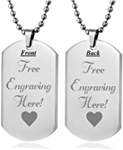 military style dog tags personalized
