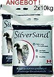 Silversand klumpendes Katzenstreu 2 x 10kg Doppelpack