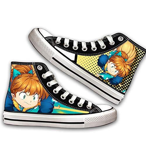 Ga-yinuo Inuyasha Alpargatas Zapatos Hombre Zapatillas Casual Bambas Zapatos Mujer Adolescente Zapatillas Deportivas Zapatos Planos Unisex Anime Shoes 43