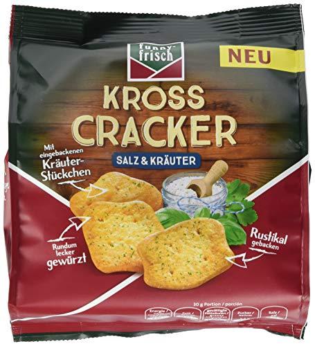 funny-frisch Kross Cracker Salz & Kräuter, 12er Pack (12 x 100 g)
