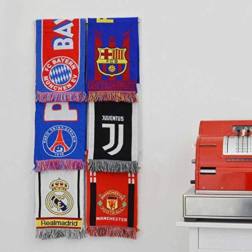 sport scarfs display rack football