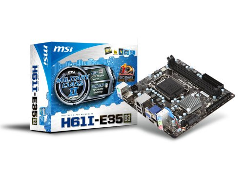 MSI H61I-E35 (B3) Mainboard Socket 1155 Mikro ATX DDR3 Speicher