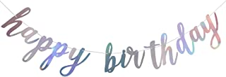 Shiny Happy Birthday Banner Sign Garland,Birthday Party 1st Birthday Party Decoration Supplies