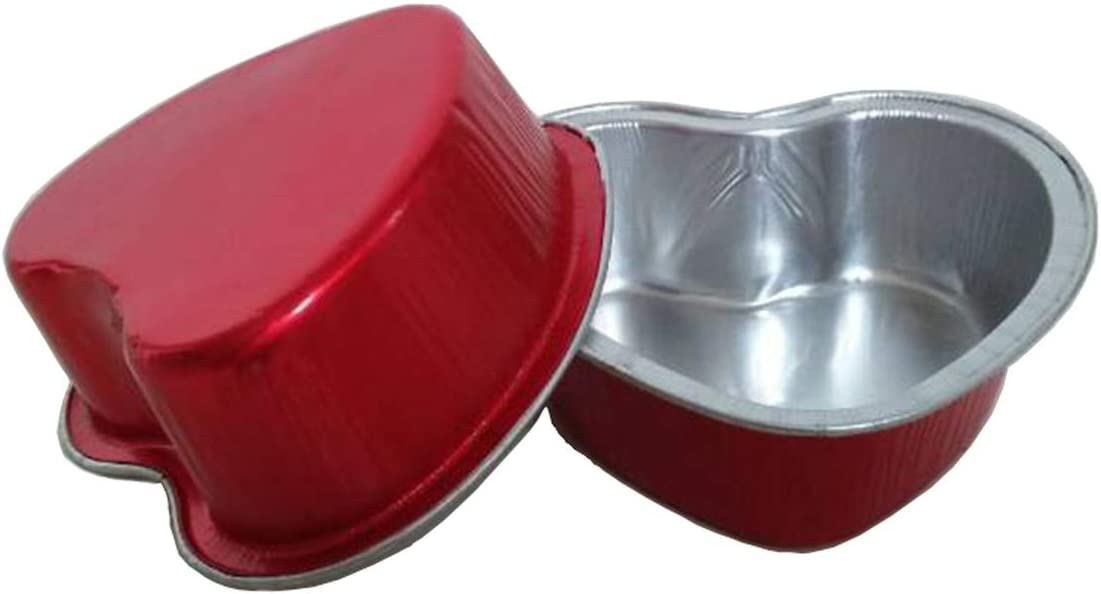 OFFicial HinLot Disposable Aluminum Foil Heart Cupcake Muffin Tart 67% OFF of fixed price Shape