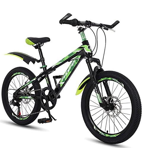 HUAQINEI Bicicleta para niños de Acero con Alto Contenido de Carbono de 20 Pulgadas para niños y niñas, Adecuada para niños de 9 a 14 años, 3 Colores