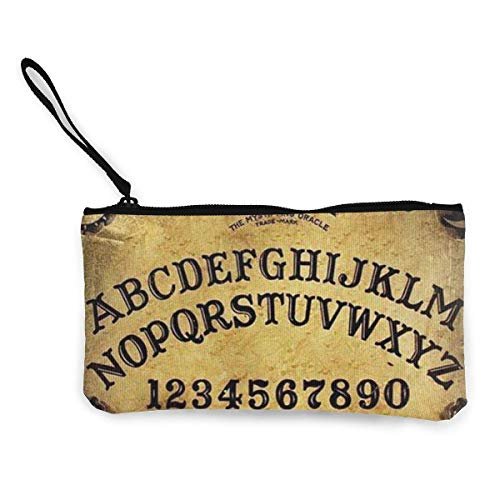 Geldbörse, gefährliches magisches Spiel Ouija-Brett Muster, beliebtes Design, tolles Geschenk für Valentinstag, Leinen-Geldbörse, stilvolle Geldbörse für Reisen, Einkaufen, Party, 22 (L) x 12 (B) cm