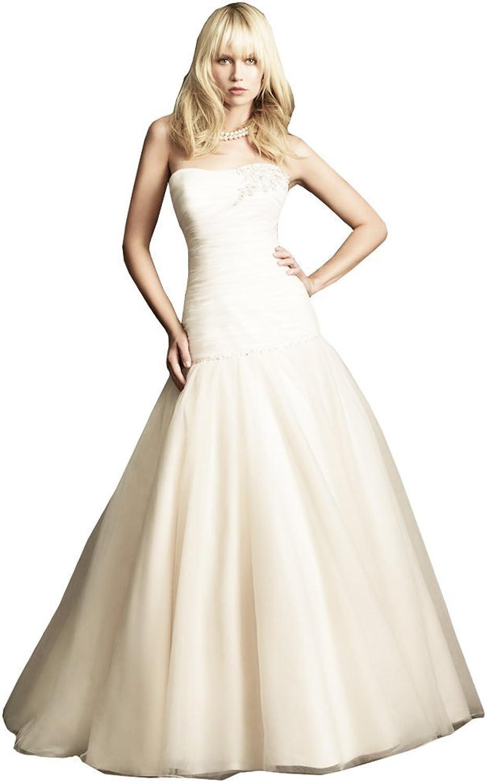 Passat High Waist Plus Size Wedding Dress